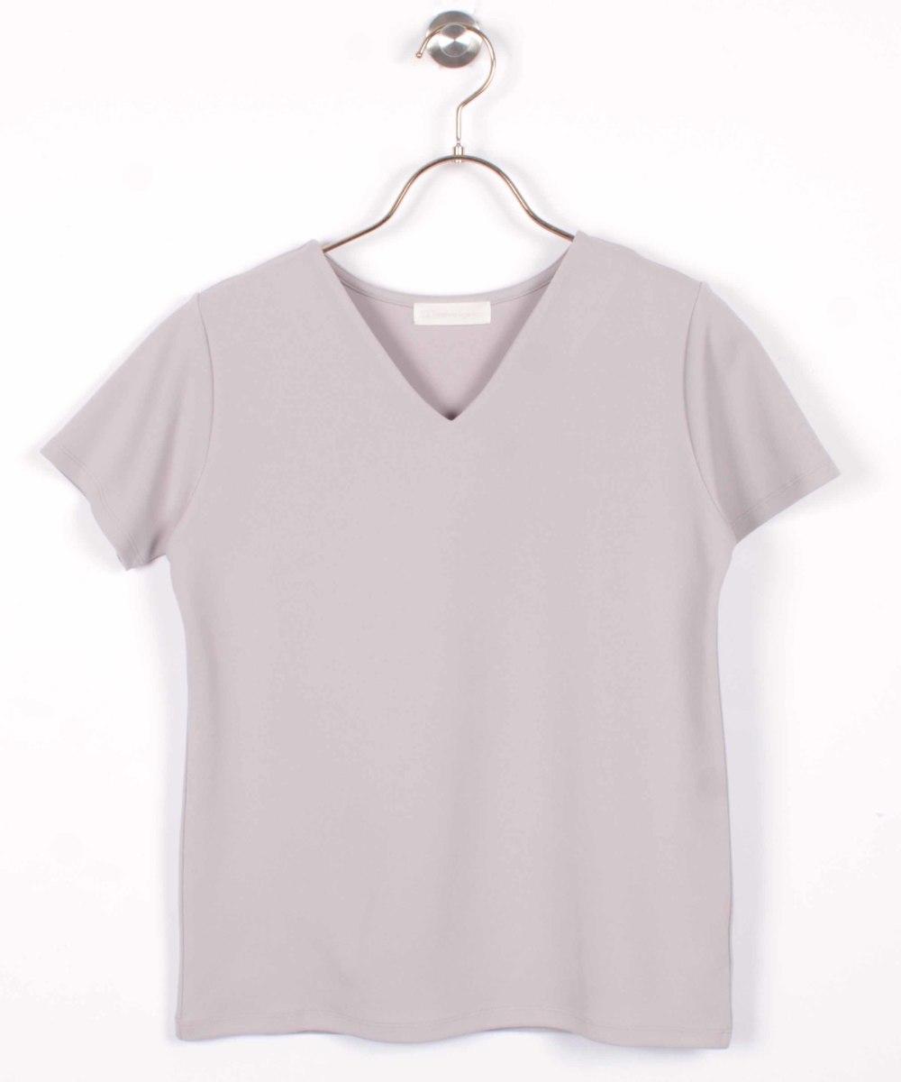 Vネック半袖Tシャツ