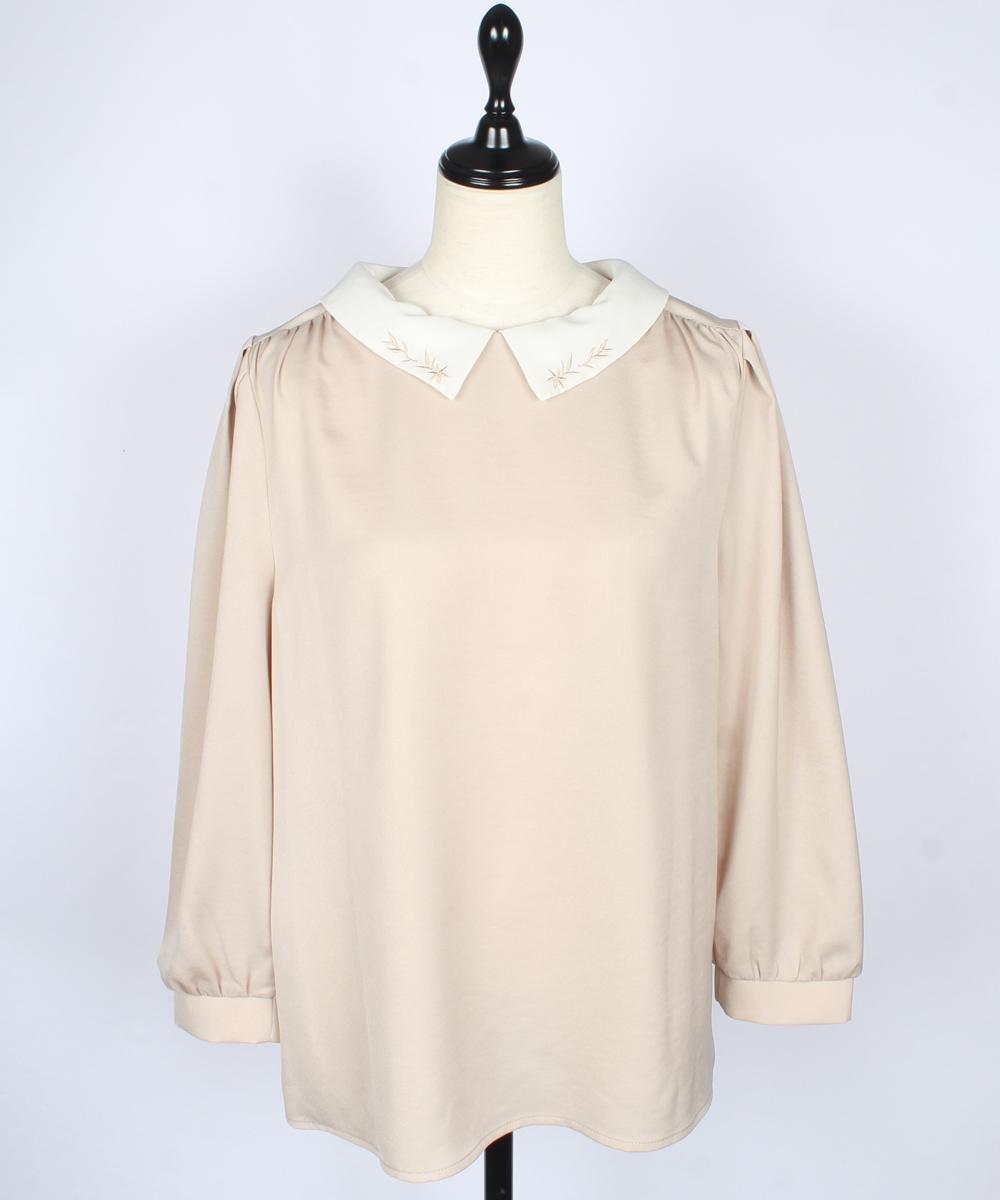 衿2way刺繍デザインブラウス