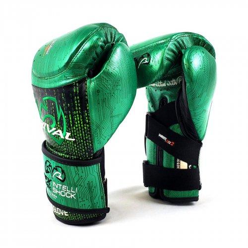 RIVAL RFX-Guerrero Intelli-Shock Bag Gloves-CYBER Edition- 緑/黒8oz