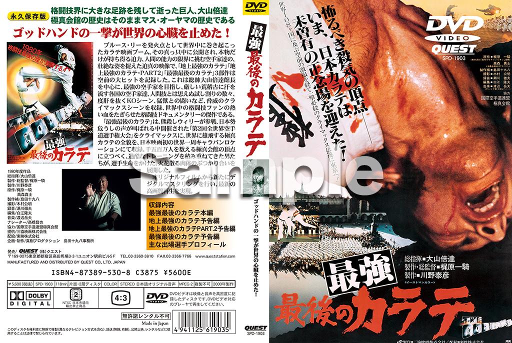 【DVD】最強最後のカラテ