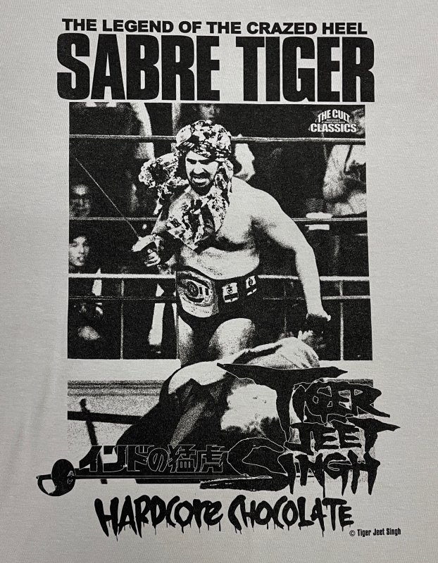 タイガー・ジェット・シン/サーベルタイガー(串刺しライトグレー)Tee