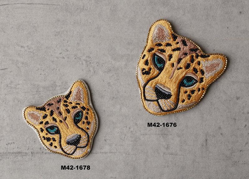 レオパード刺繍ポーチ M42-1676