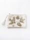 ビーズ刺繍フラットポーチL(2カラー) M42-1681 【10月上旬頃入荷予定】