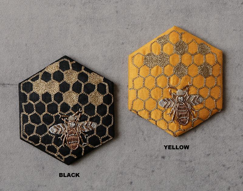 ハニカム刺繍ミラー(2カラー) M42-1685