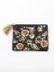 ザリ&ビーズ刺繍フラットポーチ(2カラー) M42-1686