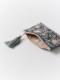 ビーズ刺繍ミニフラットポーチ(2カラー) M42-1074