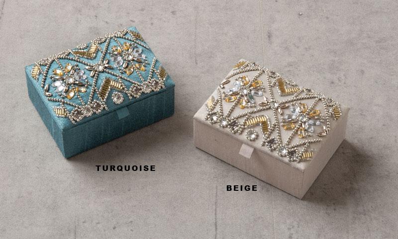 ビーズ刺繍ボックス(2カラー) M42-1376