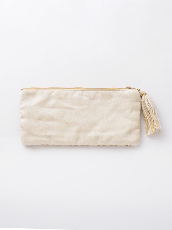 ビーズ刺繍横長ポーチ(3カラー) M42-0861 【10月上旬頃入荷予定】