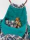 フリンジ付ラタン丸ハンドルジャガードバッグ (3カラー) H21W005