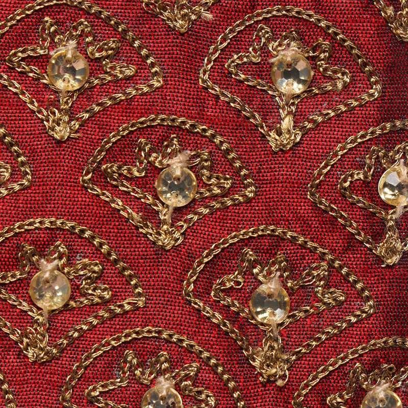 ビーズ刺繍横長ポーチ(3カラー) M42-1378