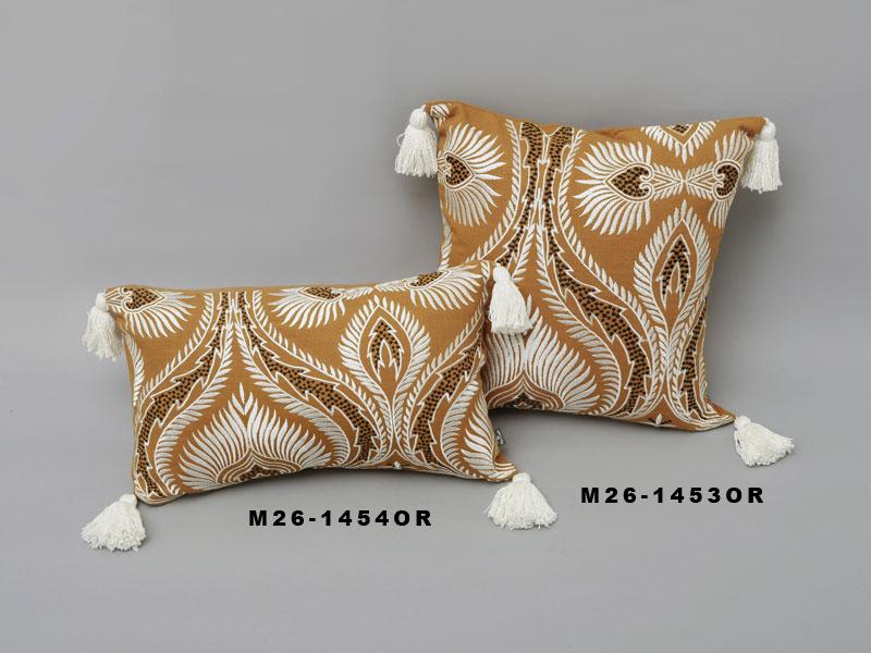 刺繍クッションカバー (4カラー) M26-1453