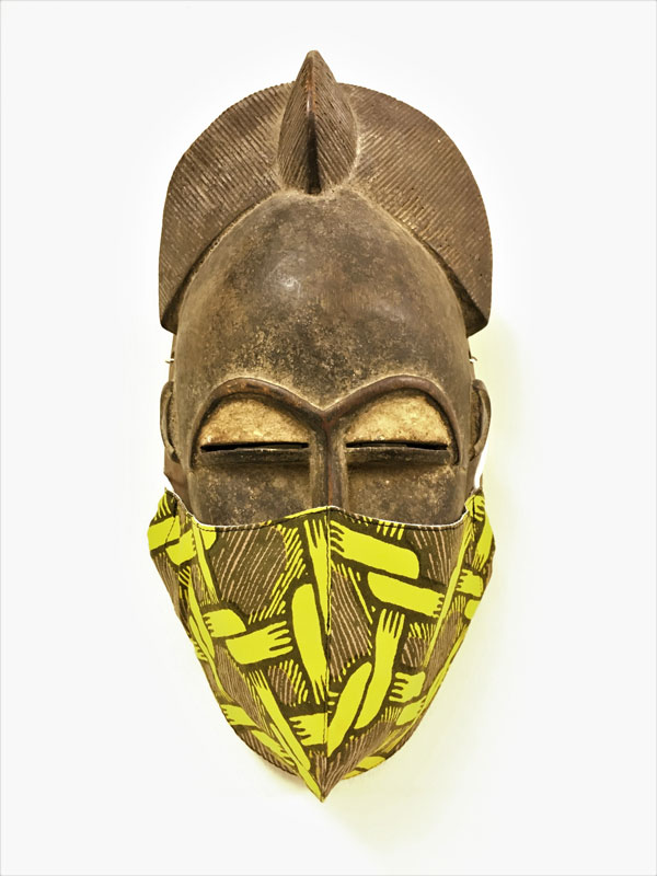 コットンプリントマスク(アフリカ柄) F20W006K