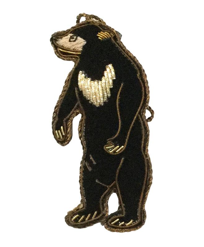 ザリ刺繍キーホルダー(ツキノワグマ) M21-1130