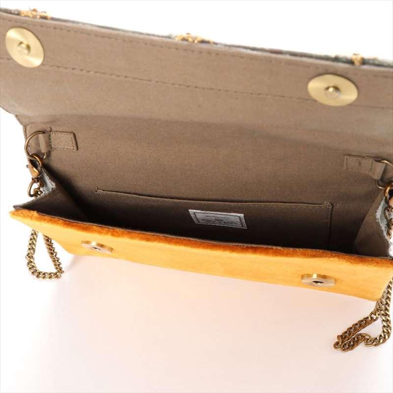 ビーズ刺繍クラッチバッグ(3カラー) M42-1379