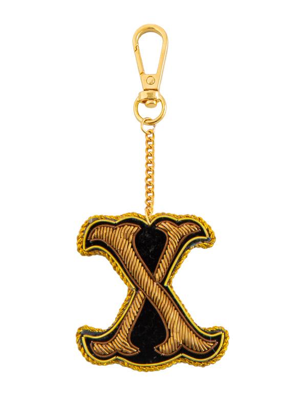 ザリ刺繍アルファベットキーホルダー(A-Z) M21-1793