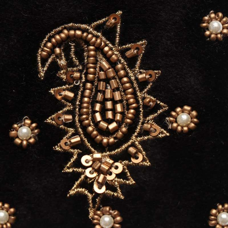 ベロア刺繍ポーチ(2カラー) M42-1380