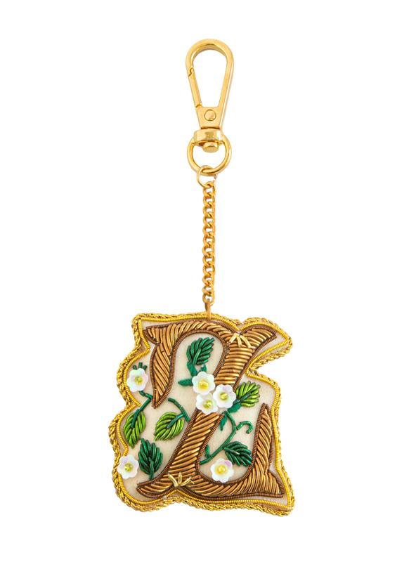 ザリ刺繍アルファベットキーホルダー(A-Z) M21-1792