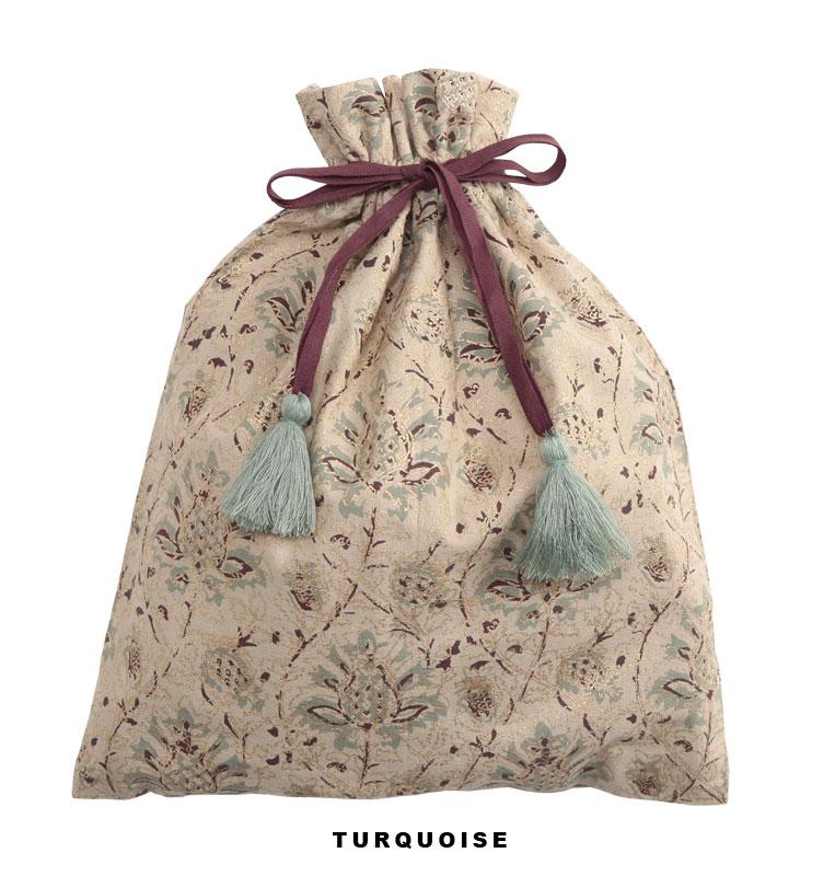 ハンドプリント巾着 (2カラー) M27-1473