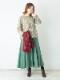 ウールツリー刺繍ショール B21W075