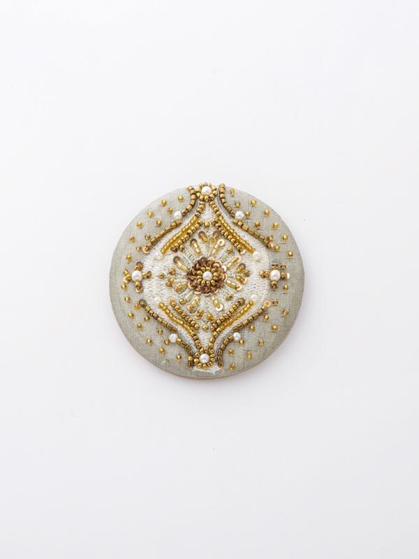ビーズ刺繍ハンドミラー(2カラー) M42-1721