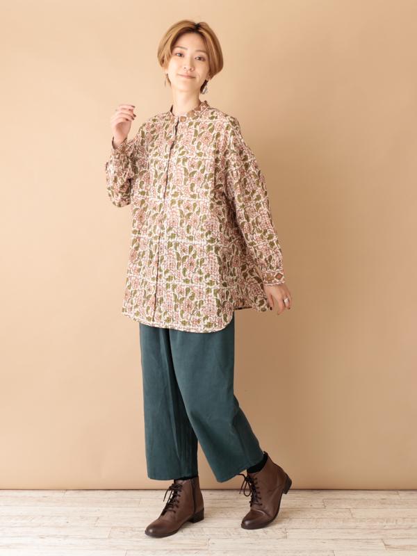 コットンドビーブロック・2wayシャツ(2カラー) 21W708 【10月19日入荷予定】