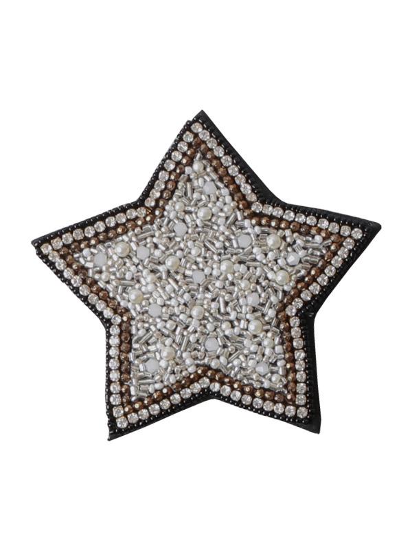 ビーズ刺繍ハンドミラー(星) M42-1719A