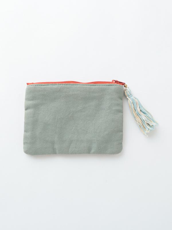 ビーズ刺繍ミニフラットポーチ(3カラー) M42-0925