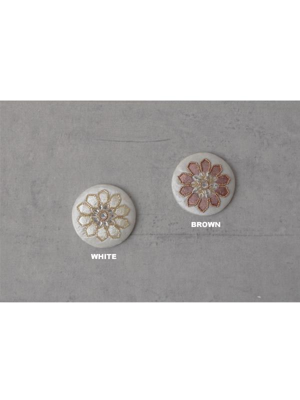 ビーズ刺繍ミラー(2カラー) M42-1763