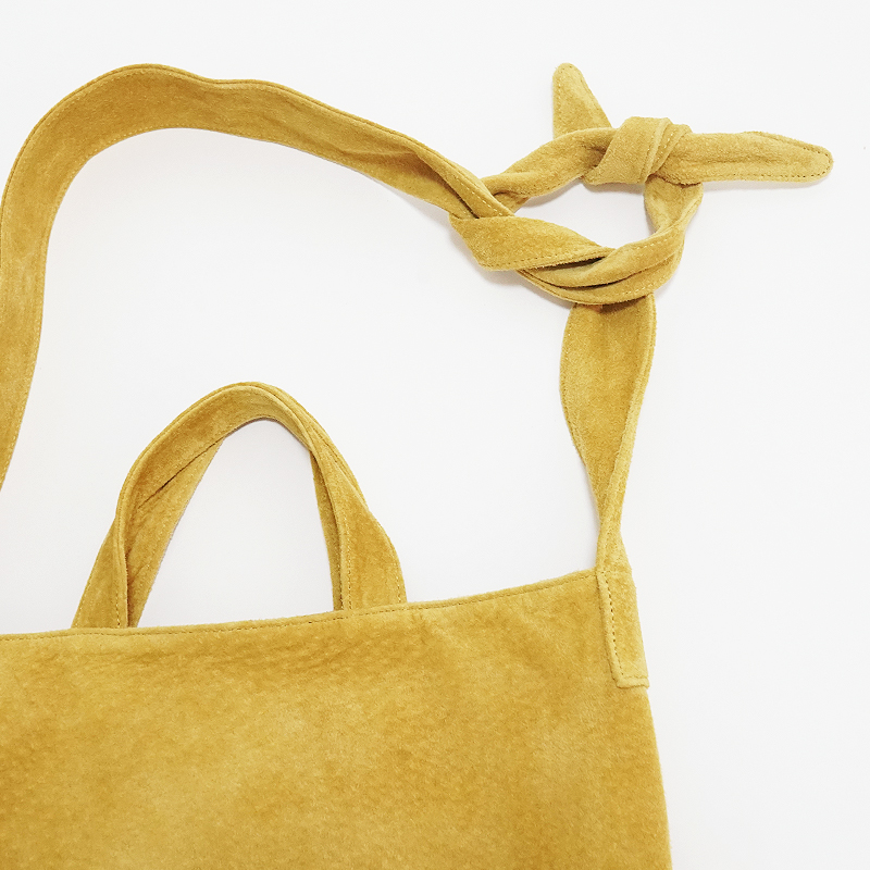 洗える革の2WAYショルダーバッグ  マスタード  / T20015 Mustard