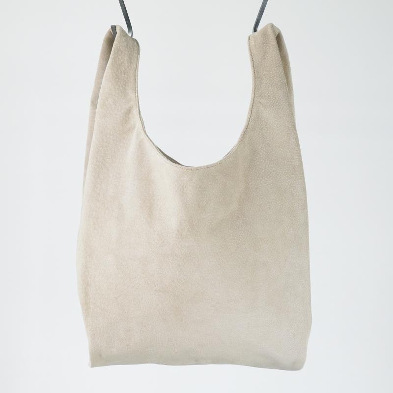 洗える革のショッピングバッグ ベージュ  / T18001 Beige