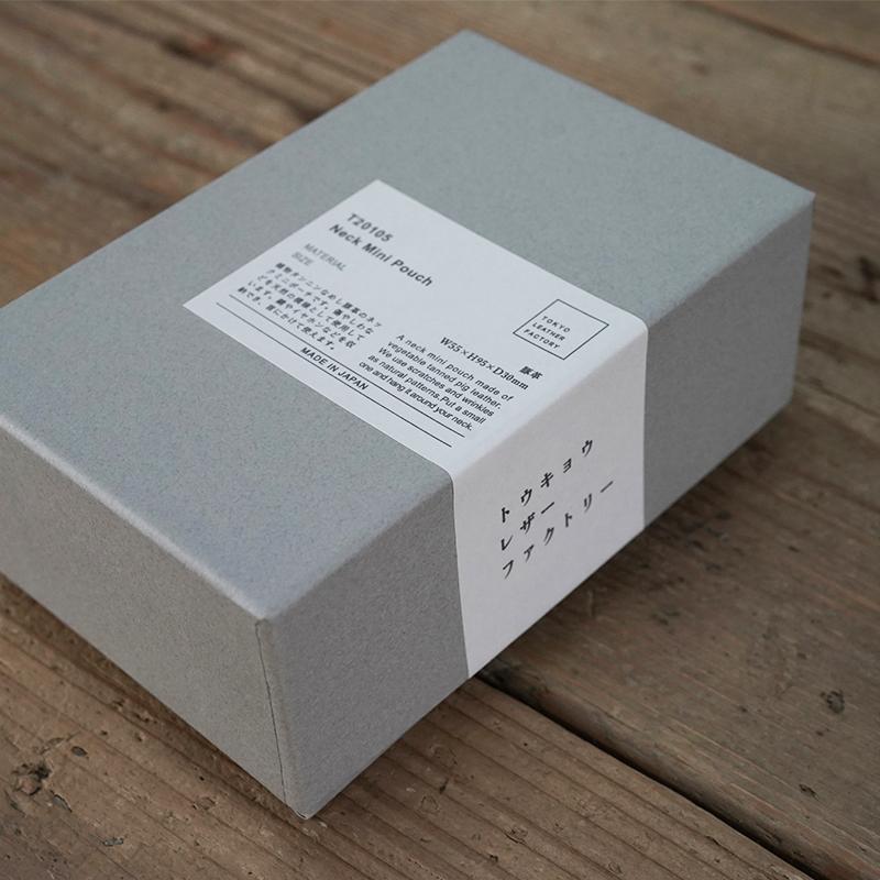 植物タンニンなめしの豚革ネックミニポーチ ナチュラル / T20105 Natural