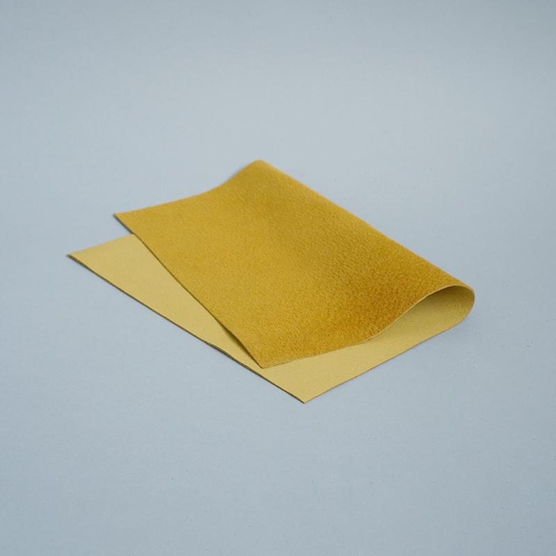 洗える革_ウォッシャブルピッグスエード マスタード A4サイズ / Mustard