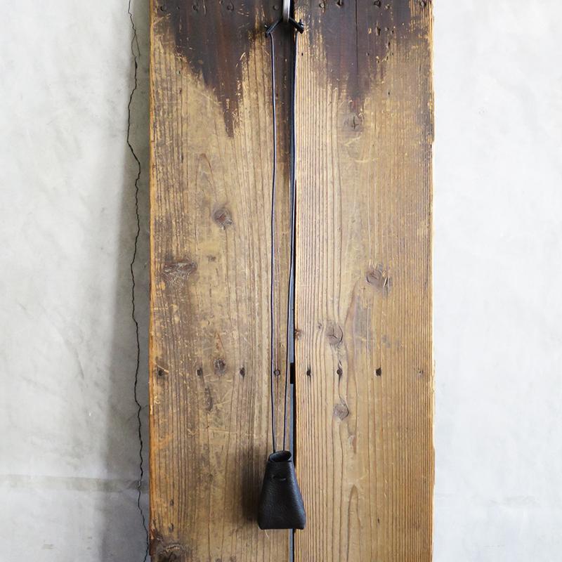 植物タンニンなめしの豚革ネックミニポーチ ブラック / T20105 Black