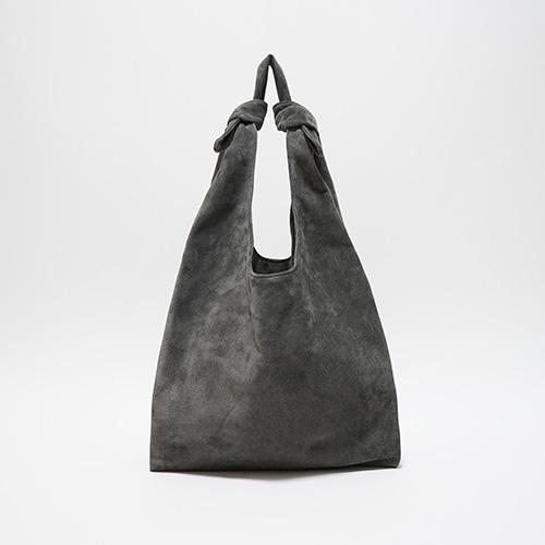 洗える革のショッピングバッグ グレー / T18001 Gray