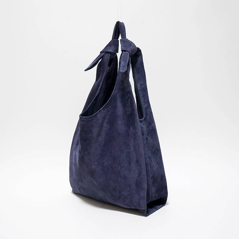 洗える革のショッピングバッグ ネイビー  / T18001 Navy