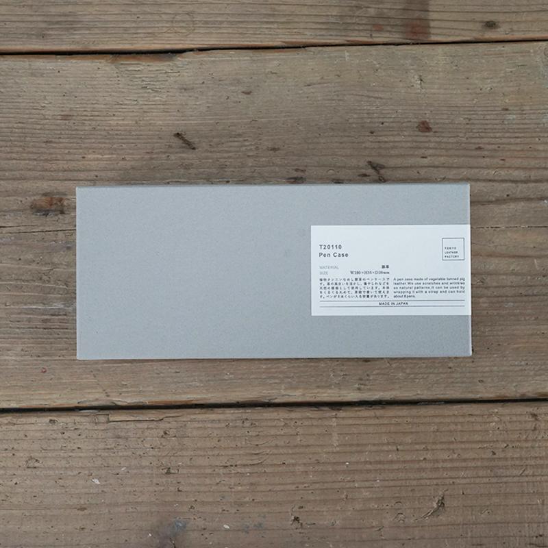 植物タンニンなめしの豚革ペンケース ナチュラル / T20110 Natural