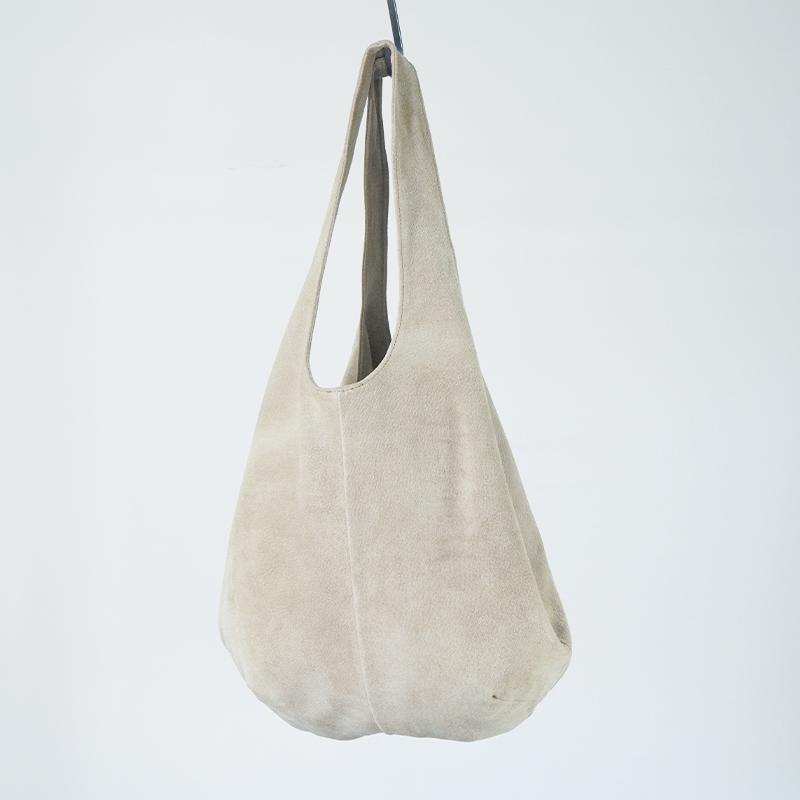 洗える革のドロップトートバッグ ベージュ / T18002 Beige