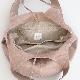 洗える革のドロップトートバッグ ピンクベージュ / T18002 Pinkbeige