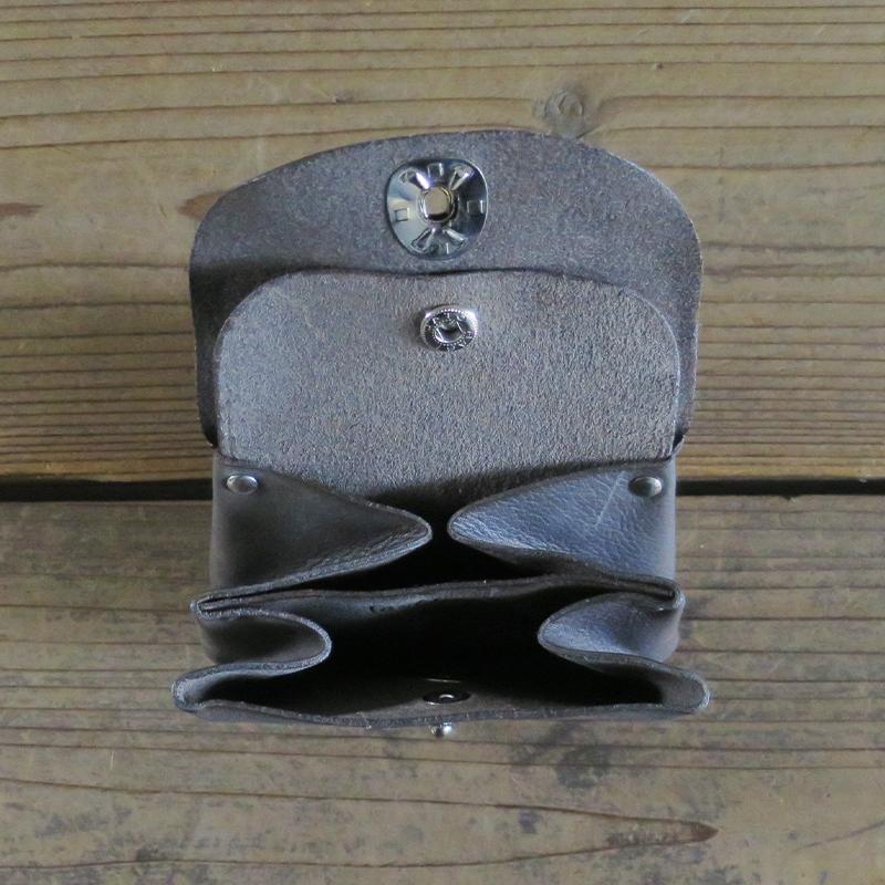 [旧ブランド leatheria 限定品] スモールウォレット ダメージ グレー / L1527-100 Gray