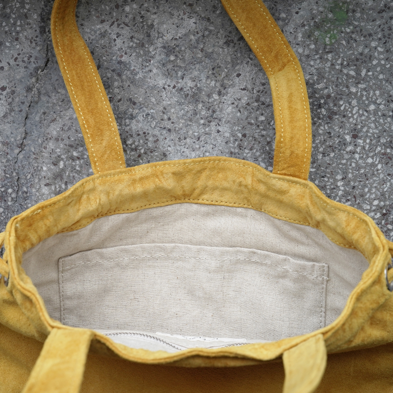 [旧ブランド leatheria 限定品]ウォッシャブル ウリングトートバッグ マスタード / L1725 Mustard