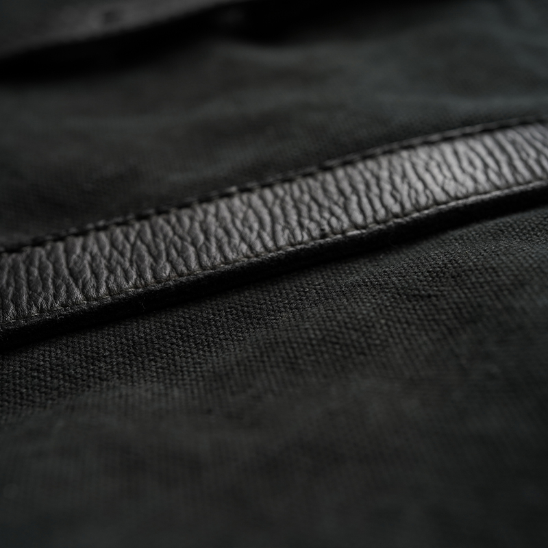 [旧ブランド leatheria 限定品] 製品染めキャンパスワークトート ブラック / L1410 Black