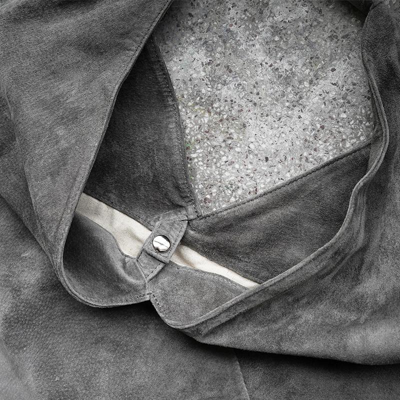 [旧ブランド leatheria 限定品] ウォッシャブル トライアングルバッグ  グレー / L1650 Gray