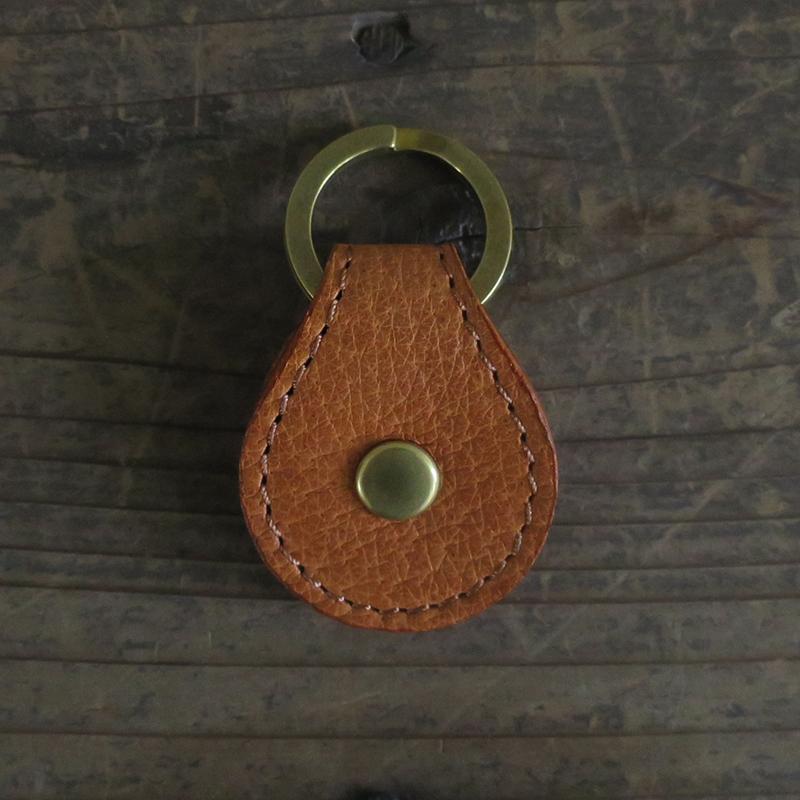 [旧ブランド leatheria 限定品] ワンコイン キーリング キャメル / L1838 Camel