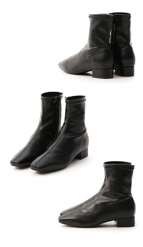 【D+AF】スクウェアストレッチブーツ ブラック