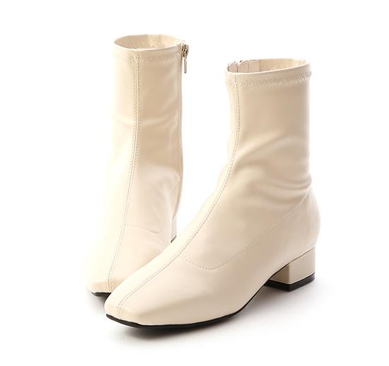 【D+AF】スクウェアストレッチブーツ ホワイト