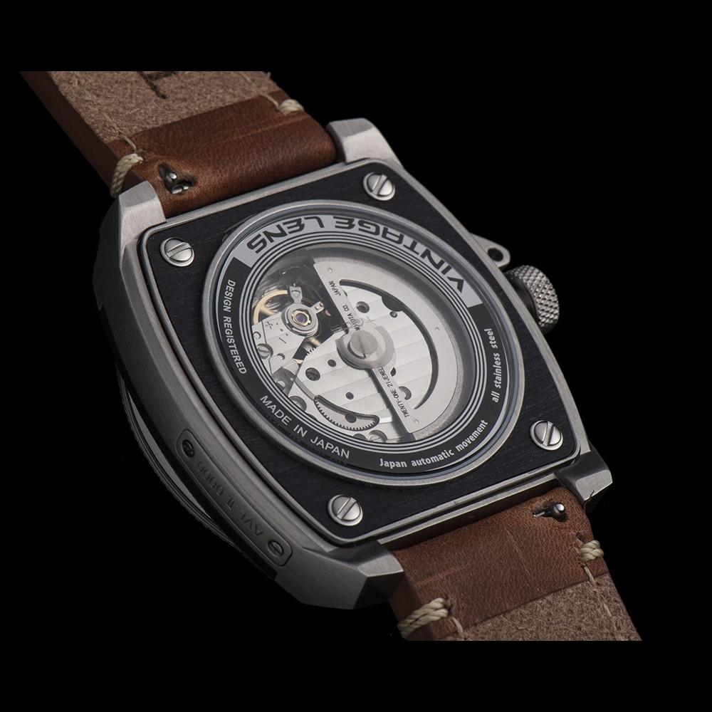 タックス 数量限定100本 VINTAGE LENS AUTOMATICII TS1803B 自動巻き機械式腕時計