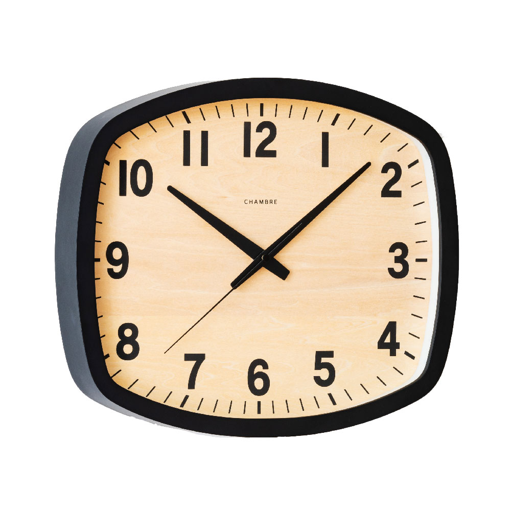 シャンブル BLACK SERIES R-SQUARE CLOCK BLACK CH-028BK 電波時計