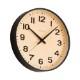 シャンブル BLACK SERIES PLYWOOD CLOCK BLACK CH-038BK 電波時計
