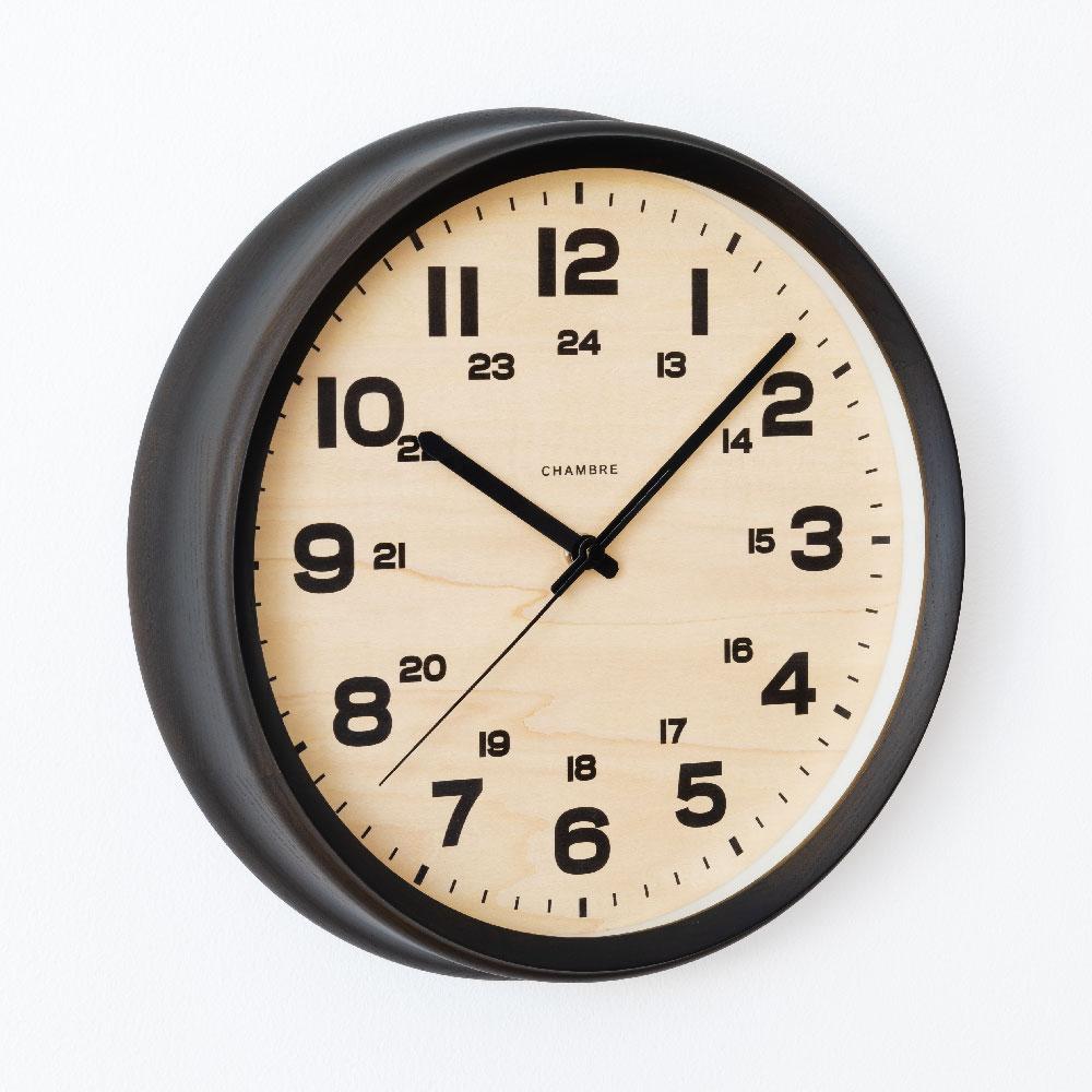 シャンブル BRAM CLOCK CHARCOAL GRAY CH-050CG 電波時計