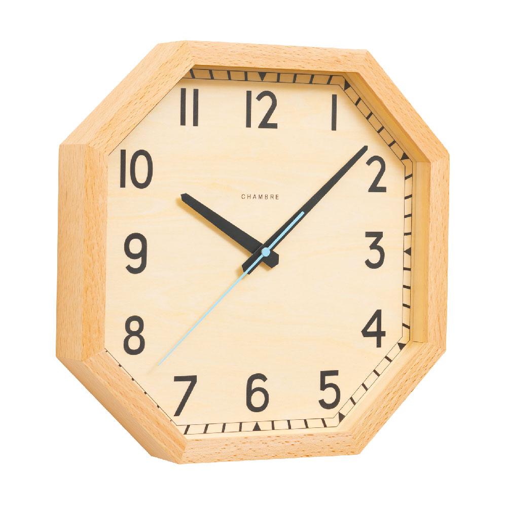 シャンブル OCTAGON CLOCK NATURAL CH-054BC